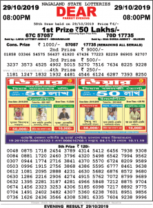 lottery sambad 8:00 PM result