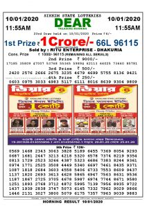 lotterysmabad.liveaLottery Sambad today morning Result